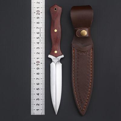 户外战术直刀防身开锋野外生存短刀多功能高硬度刀子开封军工刀刀