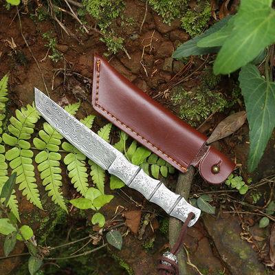 户外战术直刀防身开锋野外生存短刀多功能高硬度刀子开封军工刀锻