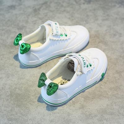 2020春季新款韩版儿童小白鞋女童板鞋蝴蝶结公主鞋百搭透气休闲鞋