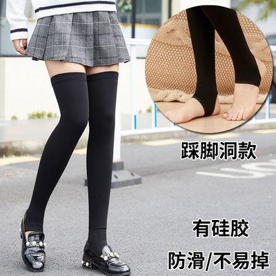 加绒压力瘦腿过膝袜女长筒高筒袜子冬季韩国美腿长袜长腿大腿袜套