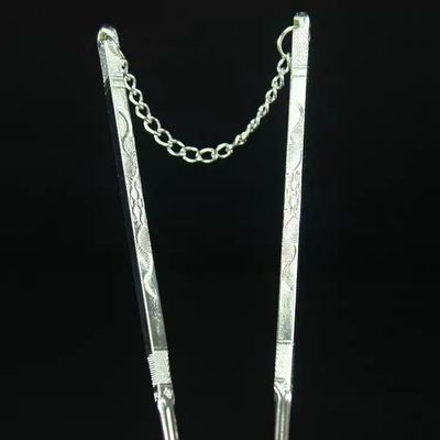 银筷子纯银实心宝宝足银餐具摆件云南纯手工百福家用银筷礼品