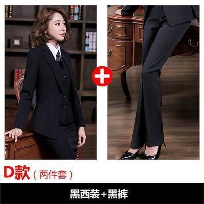 职业装女装套装长袖西装套裙长裤大学生面试修身气质商务三四件套
