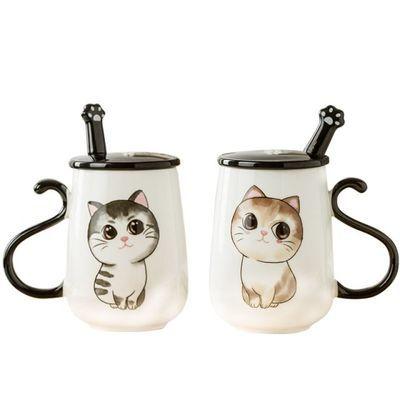 热卖可爱猫咪马克杯情侣杯子陶瓷杯牛奶杯咖啡杯水杯创意咖啡杯大
