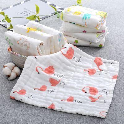 宝宝婴儿毛巾纯棉纱布小方巾洗脸新生儿童用品刚出生口水巾喂奶巾