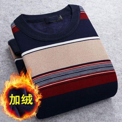 【薄款/加绒款可选】男装针织衫T恤秋冬长袖圆领毛衣男装卫衣大码