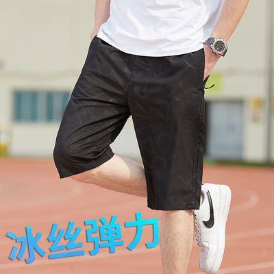 七分裤男士夏季薄款休闲运动速干宽松沙滩裤裤子男大裤衩五分裤
