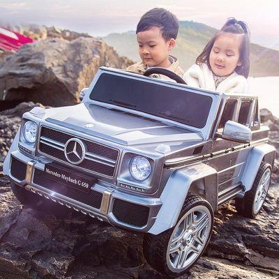 【儿童电动汽车】大G四轮遥控越野 双座宝宝玩具车可坐人双人小孩