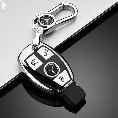 热销奔驰钥匙包新E级e300l汽车钥匙套c260l扣glc壳e200L gle350gl