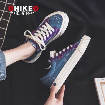 帆布鞋女学生韩版百搭ins潮鞋2019新款夏季鞋子女泫雅风秋季板鞋