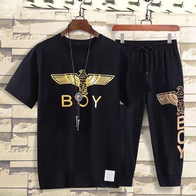 2020新款夏季boy短袖翅膀伦敦男孩老鹰潮牌t恤男欧美青少年休闲