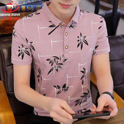 千里鲨95%棉夏季男士短袖POLO衫韩版时尚潮流半袖翻领T恤衫男