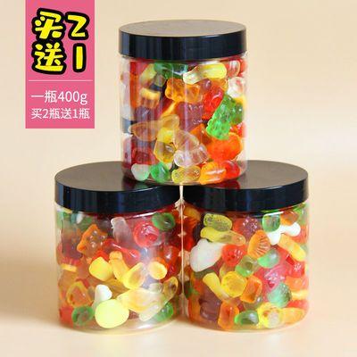 【买二送一】童年混合多口味果汁虫子qq软糖果橡皮糖休闲零食250g