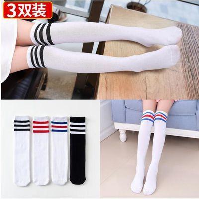 儿童中筒袜女童长筒袜过膝盖春秋纯棉堆堆袜半高筒男童足球长袜子