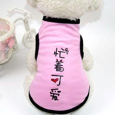 小狗狗衣服夏天薄款背心泰迪猫咪比熊法斗博美小型犬幼犬宠物夏季