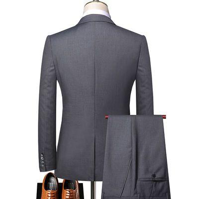 ROMON罗蒙男士西装套装西服商务正装韩版修身结婚礼服职业外套
