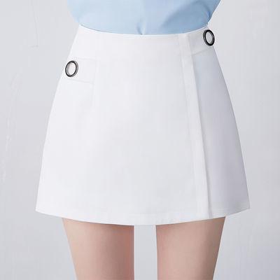 白色西装短裤女2020新款高腰休闲春夏阔腿裤宽松百搭A字裤热裤