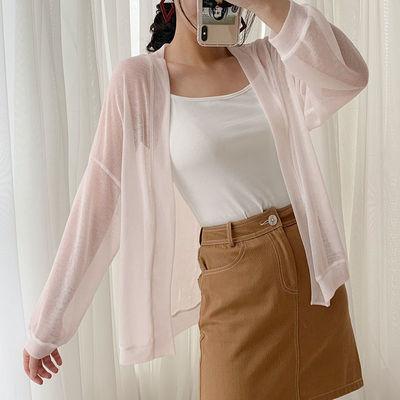 33503/防晒衣女2021夏季新款薄款韩版长袖针织衫小开衫外搭空调衫披肩潮