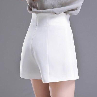 短裤女夏高腰宽松韩版2020新款显瘦阔腿百搭a字白色西装短裤现货