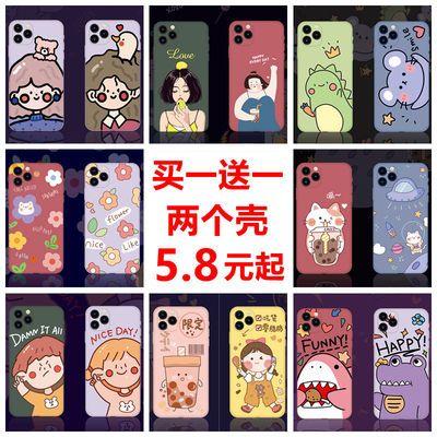 苹果11手机壳卡通iPhoneX/7plus/8p硅胶套6/6s软壳Xr/XsMax男女款
