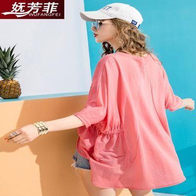 2020新款韩版中长款大码T恤宽松蝙蝠袖女上衣短袖白色夏季打底衫