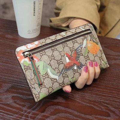 2020新款欧美超薄女式钱包皮夹女士长款卡位信封钱包零钱包手包潮
