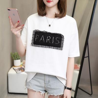 热卖短袖女学生韩版宽松T恤衫2020夏季新款胖MM大码女装200斤显瘦