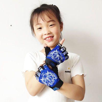 儿童手套骑行夏天薄款成人运动防滑平衡车自行车防护五指战术半指