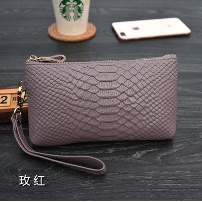 真皮大容量手拿包女长款钱包2020新款时尚气质牛皮软皮手包零钱包