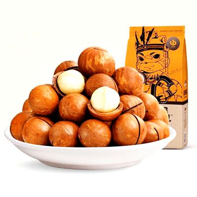 新货夏威夷果坚果零食三只松鼠干果类夏威夷果奶油味开口器265克
