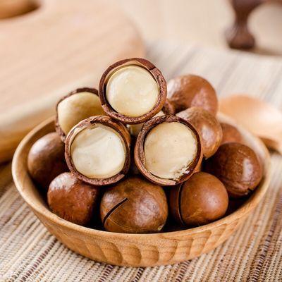 新货休闲食品奶油味坚果罐装夏威夷果奶油味休闲零食送开口器