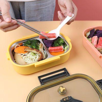 304不锈钢饭盒上班族带盖成人学生女手提餐盒日式分格便当盒单人