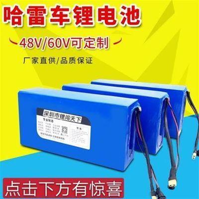哈雷锂电池60v20ah12a电动滑板自行车可拆卸大容量48v72v通用电瓶
