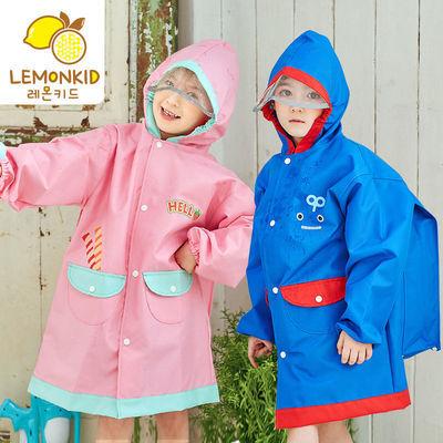 柠檬宝宝儿童雨衣男童女童斗篷式雨披幼儿园小学生中小童恐龙雨具