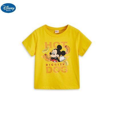 迪士尼童裝短袖T恤米奇20夏季新款男女童卡通可愛中大童潮T休閑衣