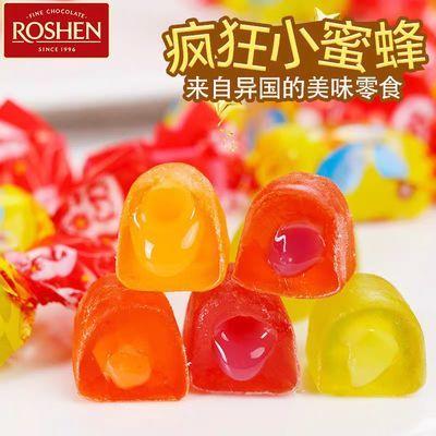 ROSHEN如胜俄罗斯进口糖果小蜜蜂夹心水果软糖乌克兰橡皮软糖QQ糖