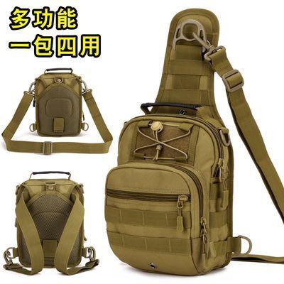 守护者战术胸包男士单肩斜挎包户外大容量弹弓多功能路亚帆布腰包