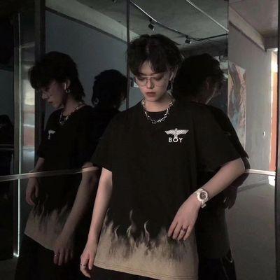 独家款  BOY火焰大老鹰短袖T恤