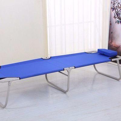 收缩折叠床单人午睡床成人简易行军床午休床帆布床家用两折小床