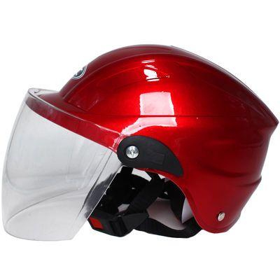 电动车头盔男女摩托车夏季半盔四季通用防晒防紫外线轻便安全帽