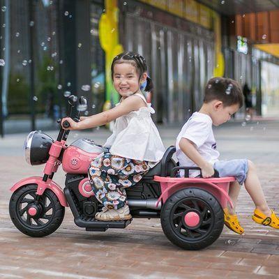 【儿童三轮车】电动摩托车玩具汽车可坐人带遥控男女宝宝充电童车
