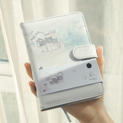 唯美A6手绘精装全彩页学生可爱记事手账本磁扣本小清新文艺风韩版