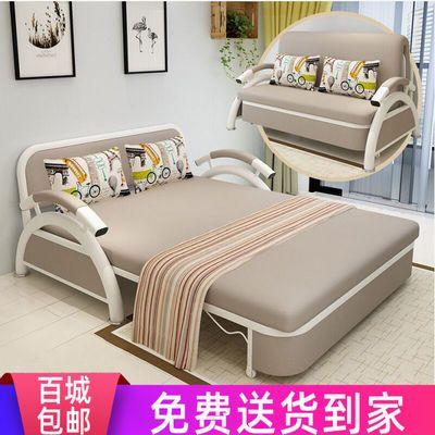 沙发床可折叠客厅单人小户型网红款乳胶两用双人多功能布艺沙发床