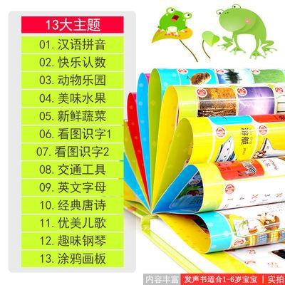 会说话的早教书 1-3-6岁宝宝益智早教启蒙双语书有声挂图充电玩具