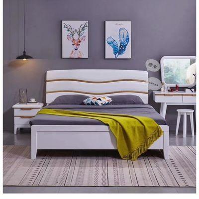 新款橡木白蜡木中式现代简约1.8婚床高箱气压储蓄大床1.5单人床