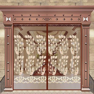 魔术贴防蚊门帘定制大门磁铁自吸纱窗隔断加密加厚夏季纱门帘蚊帐