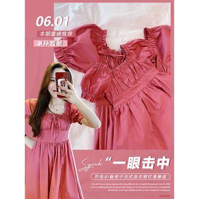 Amybaby法式母女装连衣裙夏2020新款网红洋气不一样的亲子装裙子