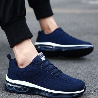 健步老人鞋春夏季运动鞋男中老年轻便透气休闲气垫鞋防滑爸爸鞋