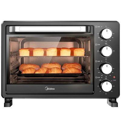 美的PT2500电烤箱家用烘焙小型烤箱迷你多功能全自动蛋糕