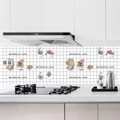 自粘墙纸灶台厨房防油防水耐高温铝箔贴纸壁橱柜油烟桌面防潮墙贴