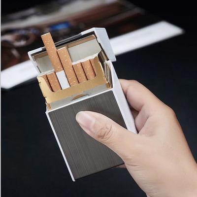 金属充电烟盒打火机一体20支装便携个性超薄男士创意烟合装烟神器